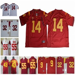 45f67213fa4 USC Trojans #9 JuJu Smith-Schuster 14 Sam Darnold 21 Adoree' Jackson 43  Troy Polamalu 32 OJ Simpson 55 Junior Seau College Football Jerseys