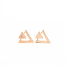 Boucles d'oreille de triangle de mode Trois boucles d'oreille de clous de pile de triangles Boucles d'oreille de combinaison de triangle de personnalité pour des femmes ? partir de fabricateur