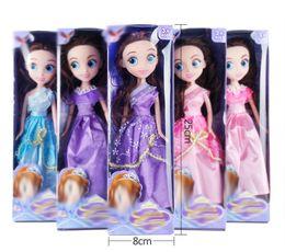 Wholesale Little Girls Baby Dolls - New 2018 Fashion Barbie Long Hair Doll Dress Set Girls Play House Little Princess 6 Styles