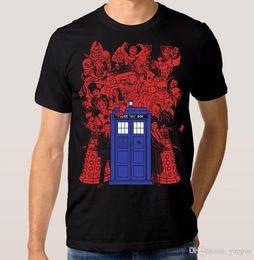 2018 Summer Style Doctor Who Tardis camiseta de mujer para hombre Moda para hombre Camiseta Printed Cotton Hombre o cuello Top desde fabricantes