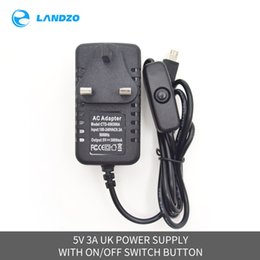 Wholesale power supply board usb - 5V 3A AC   DC USB Charger Power Supply Adapter with on off Switch Button UK AU US EU Plug for Raspberry pi 3   plus