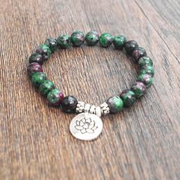 Wholesale Clasps Tibetan - Natural Stone Beads Strand Bracelet Yoga Chakra Mala Prayer Bracelets Women Men Charm Healthy Jewelry Tibetan Stretch Bracelet