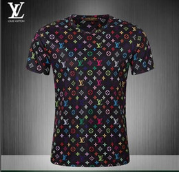 2018 nuovo design di moda per il tempo libero estate estate T-shirt a maniche corte stile di lusso di qualità @ 246 da nuove maniche camicie disegni fornitori
