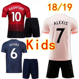 chico uniforme chico Rebajas Uniforme de fútbol para niños Manchester LUKAKU POGBA Conjuntos de fútbol para niñas 18 18 ALEXIS MARTIAL RASHFORD MATA LINGARD United Jersey Jerseys Kits