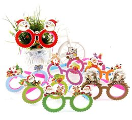 Wholesale Christmas C Led Lights - New Santa Claus Glasses LED Light Spectacles Lovely Deer Horn Eyeglass Christmas Decorations Kid Gift Many Styles 1 88pj C