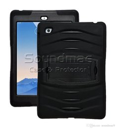 Wholesale Soft Silicone Handbag For Iphone - For New IPad 9.7 2018 2017 3 In 1 Soft Robot Silicone Hybrid PC Hard Case Cover For IPad Air 1 2 Samsung TabE T560 Pro OPP BAG