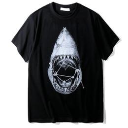 t-shirt di abbigliamento di marca stilista per uomo maglietta casual in cotone a maniche corte in cotone con stampa animalier squalo 3D cheap 3d shirts shark da squali 3d camicie fornitori