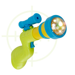 Wholesale toy bubble guns - Children Funny Electric Acousto Optic Music Toy With Aiming Rule Sight Plastic Projection Toys New Arrival 3 2yy W