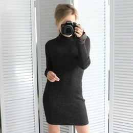 Abito aderente a maglia a costine slim aderente Abito elasticizzato autunno  inverno Abito in lurex Donna Abiti da festa sexy Abiti Club Robe vestito a  ... 6c68fc37835