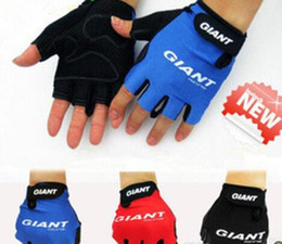 Wholesale Wholesale Bike Gloves - 2018 new Short Finger Cycling Gloves Mountain Bike Half Finger Bicycle Gloves Spring&Summer Non-Slip Breathable Sports Gloves Free shipping