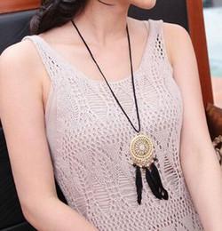 Sıcak tarzı Hint rüya yakalayıcı tüy kolye Bohemian kazak zinciri sıcak tarzı takı moda klasik nefis nereden