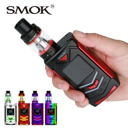 Wholesale E Cig 5ml Tank - Retail 225W SMOK Veneno TC Kit with TFV8 Big Baby Tank Atomizer 2ml 5ml E-cig Starter Kit