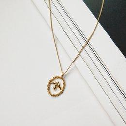 2019 colgante de trago de oro Nuevo 925 plata esterlina Swallow collar colgante de moda de oro salvaje Golondrina collar de pájaros para las mujeres encantos de la joyería regalo colgante de trago de oro baratos