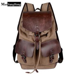 Wholesale Vintage Cotton Shoulder Bags For Women - High Quality Vintage Fashion Casual Canvas Microfiber Leather Women Men Backpack Backpacks Shoulder Bag Bags For Lady Rucksack