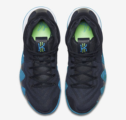 Wholesale Flat Soccer Ball - 2018 New Kyrie Irving 4 EP Basketball Shoes Sneakers Sports Mens Shoe Dark Obsidian Black Obsidienne FNC Noir Outdoor Basket Ball Boots