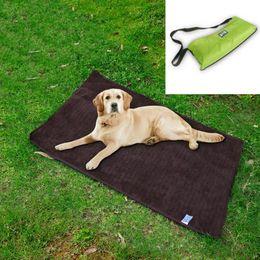 Wholesale outdoor dog mats - 100*70cm Pet Cats Dogs Outdoor Blanket Bed Picnic Mats Waterproof Warm Multifunctional Folding Portable Pet Blankets Pads Towel AAA517