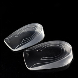 Wholesale Family Footings - transparent foot pad silicone heel elastic care half insole cushion insole height increase of 0.8   2 3 cm