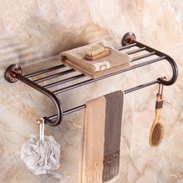 2019 porte-serviettes en bronze Support de porte-serviette en étagère de serviette de salle de bains en bronze huilé porte-serviettes en bronze pas cher