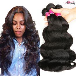 Wholesale loose wave human hair unprocessed - Mink Brazilian Body Wave Straight Loose Wave Hair Bundles Unprocessed Brazilain Peruvian indian Virgin Hair Body Wave Human Hair Extensions