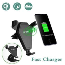 Wholesale Wireless Cell Phone Car Charger - Qi Cell Phone Wireless Car Charger For Qi-Enabled Devices Mount Stand Fast Charger For iPhone Samsung etc.