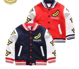 Wholesale Toddler Girls Coats Jackets - Wholesale Retail Brand New Children Clothing Baby Boy Cartoon Base Ball Jacket Toddler Casual Fleece Outerwear Baby Girls Coat Free Shipping