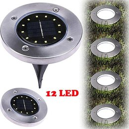 Wholesale solar led deck - NEW Waterproof 12 LED Solar Buried Light Ground Lamp Underground Lamps for Outdoor Path Way Garden Decking Atmosphere Light