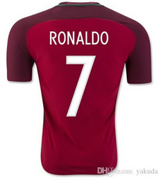 Wholesale Red Home Soccer Jersey - Thai Quality Customized 2016 RONALDO Home Red Soccer Jerseys Shirt,F. COENTRAO #5 Football Jersey,J. MOUTINHO #8 MIGUEL #4 Soccer Wear
