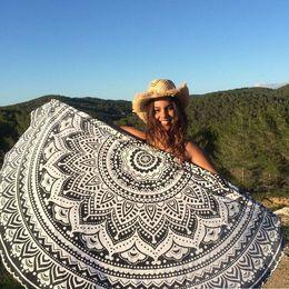 2019 toalhas de papel comprimido Jogue Toalha Tapete De Ioga Decorativa Rodada Toalha De Praia Mais Recente Mandala Indiano Rodada Elefante Tapeçaria Tapeçaria Praia Do Verão