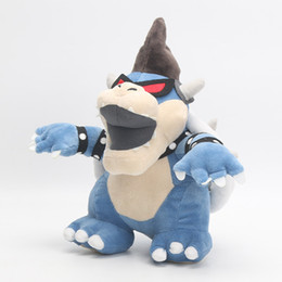 Wholesale super mario bowser toys - 28CM Super Mario Brother Dark Bowser Plush Doll Toys Children Stuffed Animals Toys For Child Best Gifts Party Favor AAA273