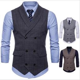 Gli stili casual della maglia degli uomini online-Best selling explosions gilet da uomo British and business style moda Slim casual lattice vest 3 colori