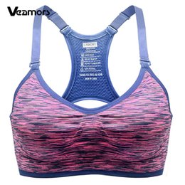 Wholesale Fast Bras - VEAMORS Women's Adjustable Straps Professional Push up Bra Fast absorption Sweat Seamless Top Vest With inner padded Underwear