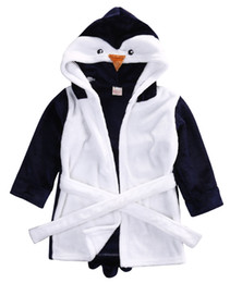 infant boy bath Coupons - 2016 Winter Warm Cute Infant Baby Girl Boy Hooded Bath Towel Wrap Bathrobe Bathing Blanket Throws Robes
