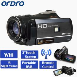 "Wholesale Image Sensor Cmos - ORDRO HDV-D395 Full HD 1080P 18X 3.0""Touch LCD Screen Digital Video Camera Recorder Night Vision CMOS 8.0Mega Pixels Sensor DVR"
