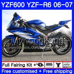 2019 yzf r6 kit di verniciatura yamaha Corpo + serbatoio Per YAMAHA YZF R 6 YZF 600 YZF-R6 blu lucido caldo 2006 2007 Telaio 233HM.32 YZF-600 YZF600 YZFR6 06 07 YZF R6 06 07 Kit carenature sconti yzf r6 kit di verniciatura yamaha