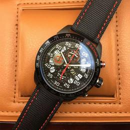 Wholesale Wrist Watch Movements Japan Quartz - Sports luxury brand T A G watch Japan VK quartz movement Chronograph CARRERA Senna Leather strap Mans wrist watch