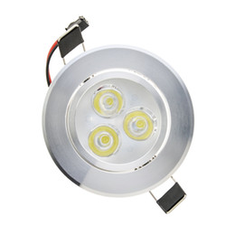 Downlight techo 12v online-LED Downlight 6W Empotrable COB Downlights de techo 90-100lm / W regulable / no regulable Iluminación interior comercial