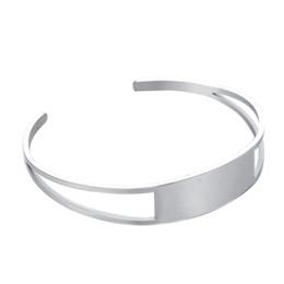 Заготовки из манжеты манжеты онлайн-Пустой Шарм Браслет из нержавеющей стали открыть манжеты браслеты для женщин мужчины ювелирные изделия Fit Customzied выгравировать запомнил подарки