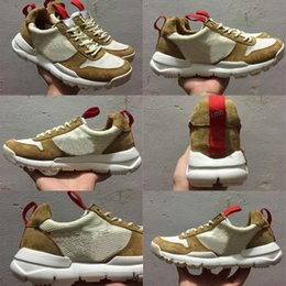 Wholesale Yellow Lace Yard - Tom Sachs x Craft Mars Yard 2.0 TS NASA Running Shoes for men AA2261-100 Natural Sport Red Shoe Zapatillas Vintage