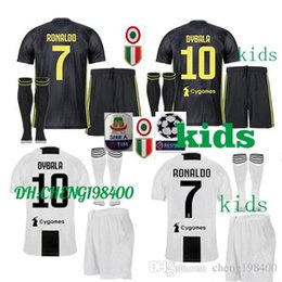 2018 2019 Juventus soccer jersey RONALDO DYBALA HIGUAIN kids kit 18 19 juve  MARCHISIO MANDZUKIC CHIELLINI BUFFON child Football Shirt unifo 728eb201b