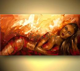 Dipinti astratti moderni donne online-enorme muro fatto a mano astratto bella donna tela pittura palette spatola pesante pittura a olio pittura acrilica arte moderna parete canva