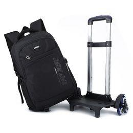 Wholesale Wheels School Bags - Rolling Backpack On Wheels Boy's Trolley School bags Children's Travel luggage Bag School Backpacks Detachable Student Bookbag