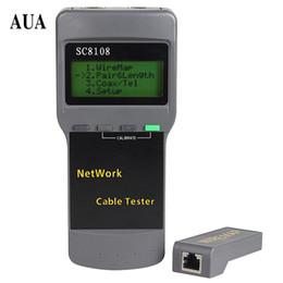 Wholesale multifunction tester - Free Shipping Portable Multifunction Wireless Network Tester Sc8108 LCD Digital PC Data Network CAT5 RJ45 LAN Phone Cable Tester