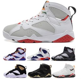 Wholesale net french - Cheap 7 Men Basketball Shoes 7s Hare University Blue French Blue GMP Raptor Nothing But Net Bobcats MARVIN THE MARTIAN Cardinal Sneakers