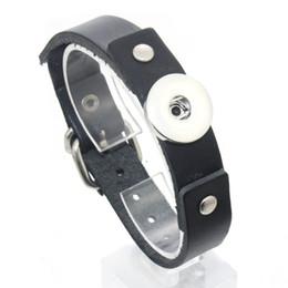 Мужские кожаные наручные браслеты ручной работы онлайн-18 мм Оснастки кнопки браслет Черная веревка ручной работы кожаный браслет Браслет Дружбы браслет для женщин мужские 1165
