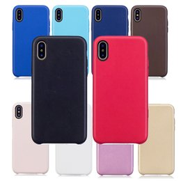 Wholesale yellow iphone 5s case - Original Official Case For Apple iPhone X 8 7 Plus 6S 6 SE 5S 5 PU Leather Cover Have OEM Back LOGO Leather Cases MOQ:1pcs