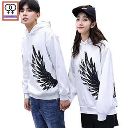 3f68f093ea Matching Couple Clothes Hoodie Sweatshirts Preppy Style Printed Hooded Tops  Black White Girlfriend Boyfriend Couple Hoodies 191