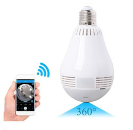 Wholesale mini spy camera motion detection - 2018 360 Degree Motion Detection IP Home Security 720p Two Way Audio LED Bulb wifi mini cctv spy camera