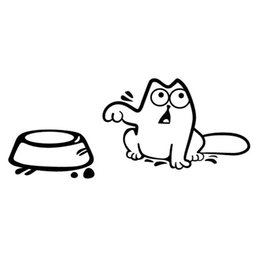 Wholesale Stylish Car - Personality Simon Cat Funny Car Stickers Stylish Car Styling Cover Scratches Decoration Accessories 2018