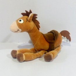 Wholesale Horse Cloth - New Woody Bullseye The Horse Plush Toys Cute Anime Soft Figure Stuffed Animals Doll Toys For Children Gifts jouets peluche 20CM 8inch