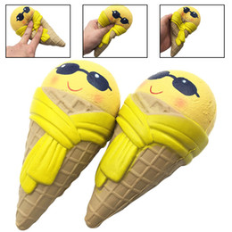 Wholesale Ice Sunglasses - Sunglasses Ice Cream Squishy Scarf Super Soft Slow Rising Jumbo Cone Squeeze Stress Reliever Kids Gift